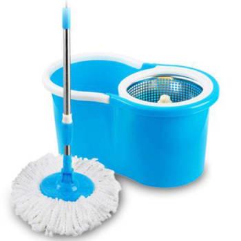 Mop Esfregao Limpeza Pratica c/ Cesto Inox 2 Refis Uitech
