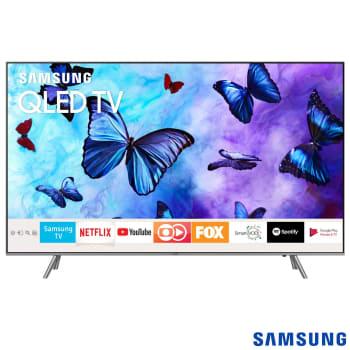 """Smart TV QLED 65"""" Samsung QN65Q6FNAGXZD Ultra HD 4k com Conversor Digital 4 HDMI 3 USB Wi-Fi 120Hz"""