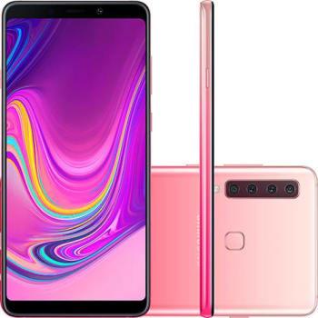 "Smartphone Samsung Galaxy A9 128GB Dual Chip Android 8.0 Tela 6.3"" Octa-Core 2.2GHz 4G Câmera 24MP (f1.7) + 5MP (f2.2) + 10MP (f2.4) + 8MP (f2.4) - Ro"