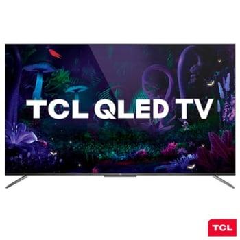"""Smart TV TCL QLED Ultra HD 4K 65"""" Android TV com Google Assistant, Design sem Bordas e Wi-Fi- QL65C715"""