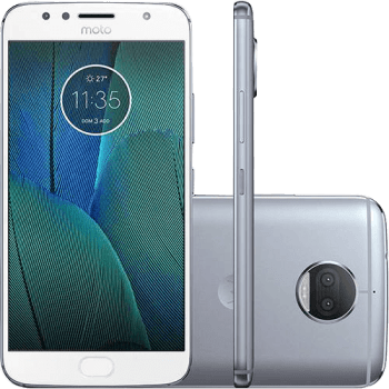 "Smartphone Motorola Moto G 5s Plus Dual Chip Android 7.1.1 Nougat Tela 5.5"" Snapdragon 625 32GB 4G 13MP Câmera Dupla - Azul Topázio"