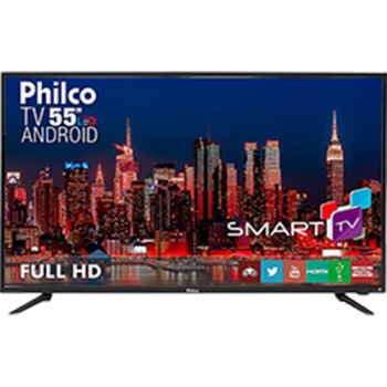 "Smart TV LED 55"" Philco PH55A17DSGWA Full HD com Conversor Digital 3 HDMI 2 USB Wi-Fi"