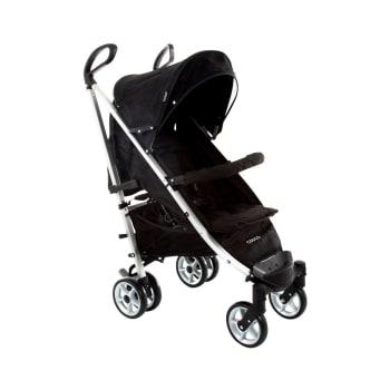 Carrinho de Bebê Cosco 6 Rodas 4 Posições Suporta Crianças de Até 15Kg Deluxe Plus IMP01348 Preto