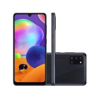 Smartphone Samsung Galaxy A31 128GB Preto 4G Tela 6.4 Pol. Câmera Quadrupla 48MP Selfie 20MP Android 10.2