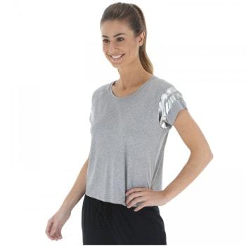 [Branca ou cinza] Camiseta Oxer Foil Run - Feminino
