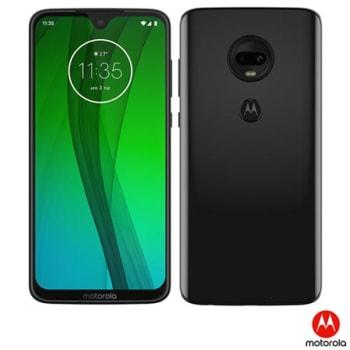 """Moto G7 Ônix Motorola com Tela de 6,24"""", 4G, 64GB e e Câmera de 12 MP + 5 MP - XT1962-4 - MRXT19624PTO_PRD"""