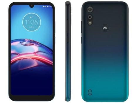 "Smartphone Motorola Moto E6S 64GB Azul Navy 4G - Octa-Core 4GB RAM 6,1"" Câm. Dupla + Selfie 5MP - Magazine Ofertaesperta"