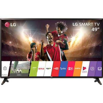 "Smart TV LED 49"" LG 49LJ5500  Full HD Conversor Digital Wi-Fi integrado  1 USB 2 HDMI webOS 3.5 Sistema de Som Virtual Surround Plus"