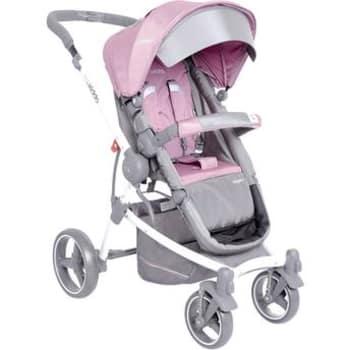 Carrinho de bebê Kiddo Aspen até 15kg Cinza/Rosa Lenox