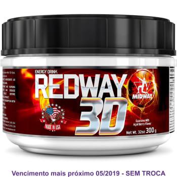 Redway 3D - Pré Treino em pó com maltodextrina cafeína e taurina Midway USA - 300G
