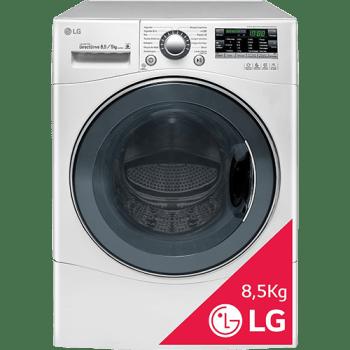 Lava & Seca LG Big Door 8,5kg Branca Touch LED