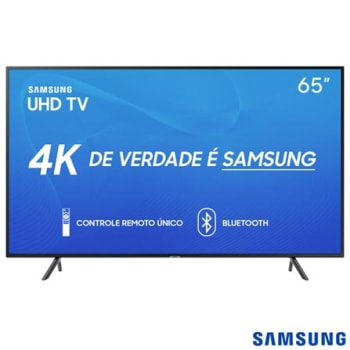 "Smart TV Samsung UHD 4K 2019 RU7100 65"", Visual Livre de Cabos, Controle Remoto Único e Bluetooth - UN65RU7100GXZD"