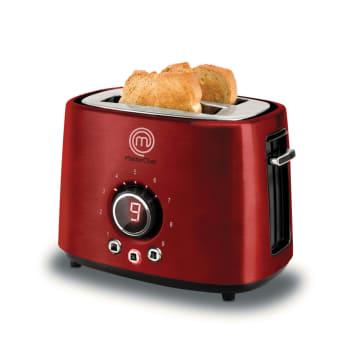 Torradeira Digital 2 Pães Premium TO3002V MasterChef Vermelha 9 níveis de Tostagem Vermelha 127V