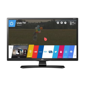 "Monitor TV Smart LED 24"" LG 24MT49S-PS HD 2 HDMI 1 USB Preto"