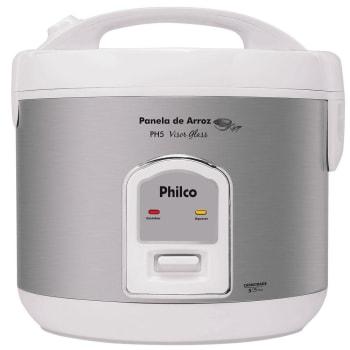 Panela Eletrica de Arroz Philco PH5 Visor Glass - Branco