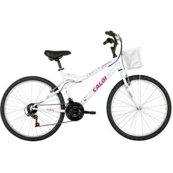 Bicicleta Caloi Aro 26 Ventura Branca 21 Marchas Passeio