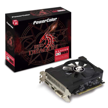 Placa de Vídeo PowerColor Red Dragon AMD Radeon RX 550 2GB, GDDR5 - AXRX 550 2GBD5-DHA/OC