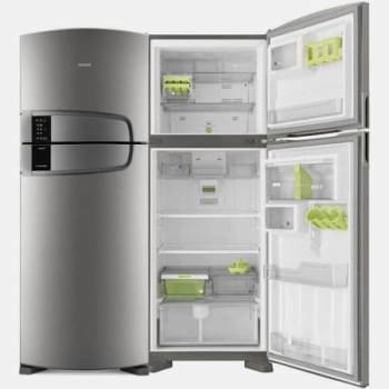 Geladeira Consul Frost Free Duplex 405 litros cor Inox com Filtro Bem Estar - CRM51AK