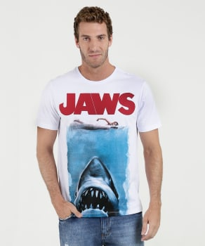 Camiseta Masculina Estampa Tubarão Marisa