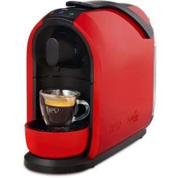 Máquina de Café Espresso Automática TRES Mimo Cápsula Multibebidas Vermelha