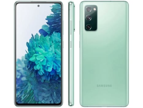 "Smartphone Samsung Galaxy S20 FE 128GB Cloud Mint - 4G 6GB RAM Tela 6,5"" Câm. Tripla + Selfie 32MP - Magazine Ofertaesperta"