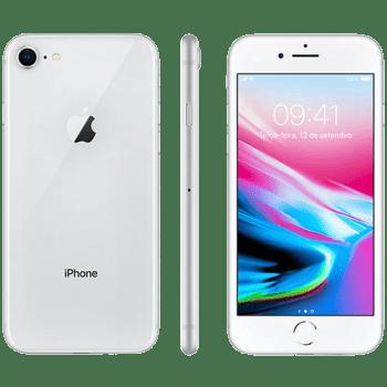 "iPhone 8 64GB Prata Tela 4.7"" IOS 4G Câmera 12MP - Apple"