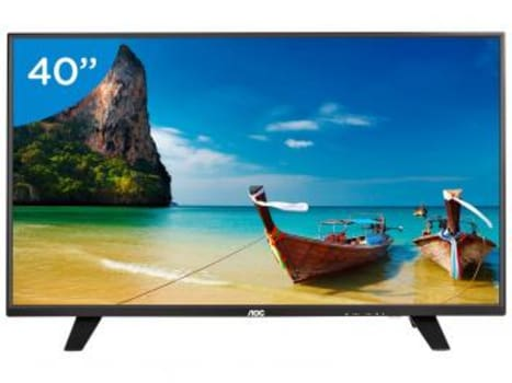 "TV LED 40"" AOC Full HD LE40F1465 - Conversor Digital 1 USB DTV"
