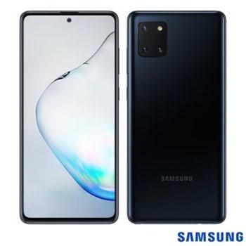 "Samsung Galaxy Note 10 Lite Preto, Tela de 6,7"", 4G, 128GB e Câmera Tripla de 12.0MP + 12.0MP + 12.0MP - SM-N770FZKJZTO"