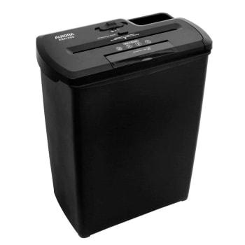 Fragmentadora Aurora Corte em Tiras 08 Folhas, Cartão, CD, DVD, Grampo com cesto 12L 110V - AS810SD