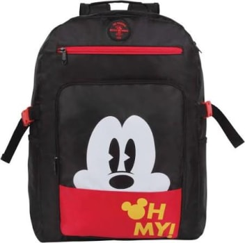 Mochila Escolar Dermiwil Mickey Mouse Disney 51926 Preta