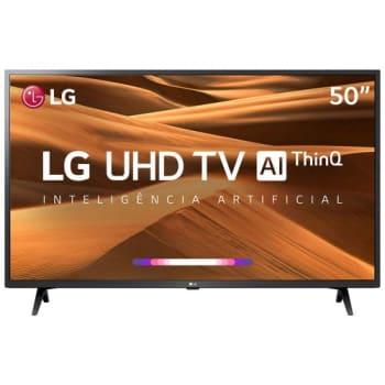 TV 50 Polegadas LG LED Smart 4k USB HDMI Comando de Voz 50um7360psa