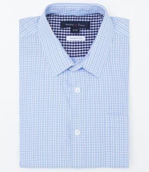 Camisa Manga Curta Comfort Fit Xadrez