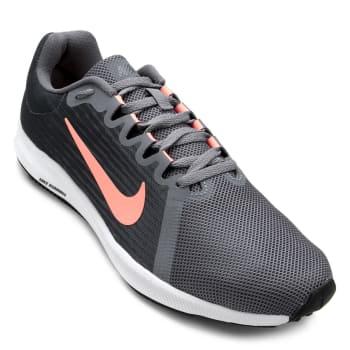 f2e6620aefc Tênis Nike Wmns Downshifter 8 Feminino - Cinza e Vermelho em ...