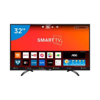 """Smart TV LED 32"""" AOC LE32S5970S HD 3 HDMI 2 USB Preta com Conversor Digital"""