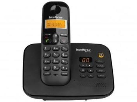 Telefone Sem Fio Intelbras TS 3130 - Identificador de Chamada Sec. Eletrônica Preto - Magazine Ofertaesperta