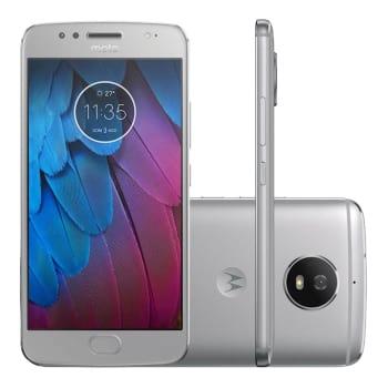 "Smartphone Motorola Moto G5s XT1792 32GB Prata 4G Tela 5.2"" Câmera 16MP Android 7.1.1"