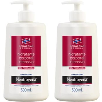Kit com 2 Hidratantes Corporais Intensivo Neutrogena Norwegian 500ml cada