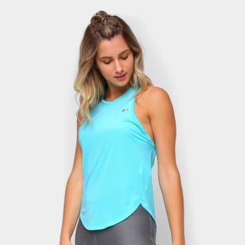 2 Unidades - Camiseta Regata Under Armour Sport Graphic Feminina - Azul+Prata