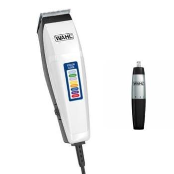 Kit Wahl com Máquina de Cortar Cabelo Color Code 10 Pentes de Corte + Aparador de Pelos Nasal Trimmer Lâminas Rotativas
