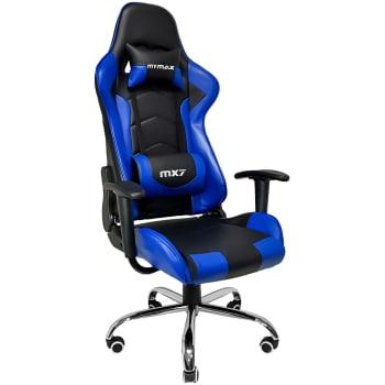 Cadeira Gamer Mymax Mx7 Giratória Preta/Azul