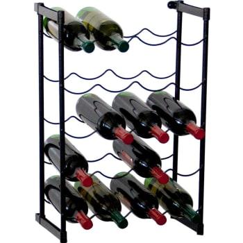 Garrafeiro Metaltru com capacidade para até 20 garrafas Preto