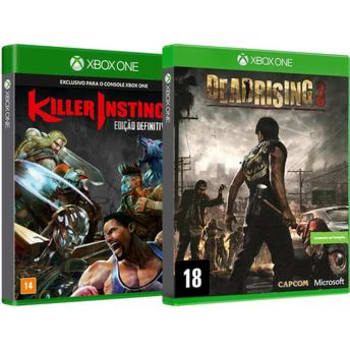 Kit com 2 Jogos Xbox One Dead Rising 3 Capcom + Killer Instinct Definitive Edition Microsoft