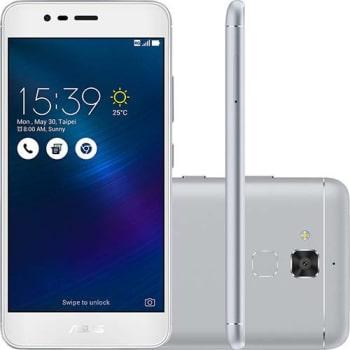 "Smartphone Asus Zenfone 3 Max Dual Chip Android 6 Tela 5.2"" 16GB 4G Câmera 13MP - Prata"