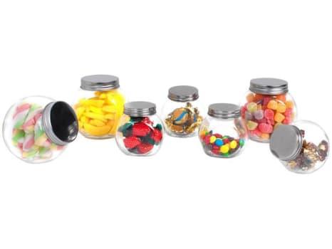 Jogo de Potes de Vidro Casambiente com Tampa - Redondo POVI160 7 Peças - Magazine Ofertaesperta