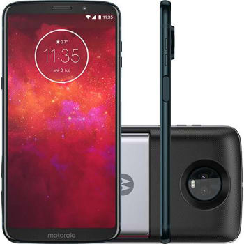 "Smartphone Motorola Moto Z3 Play - Power Pack & Dtv Edition Dual Chip Android Oreo - 8.0 Tela 6"" Octa-Core 1.8 GHz 64GB 4G Câmera 12 + 5MP (Dual Trase"