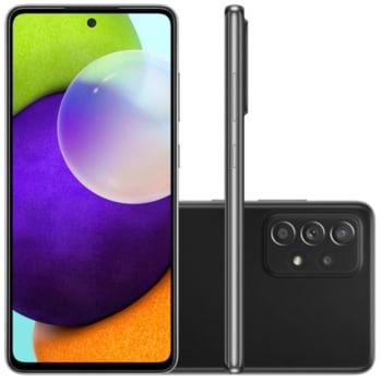 """Smartphone Samsung Galaxy A52 Tela Infinita 6,5"""" 128GB 6GB RAM Câmera Quádrupla 64MP Preto"""