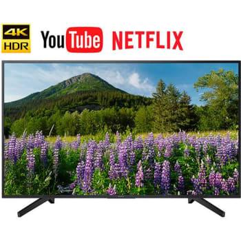 """Smart TV LED 43"""" Sony KD-43X705F Ultra HD 4k com Conversor Digital 3 HDMI 3 USB Wi-Fi Miracast - Preta"""