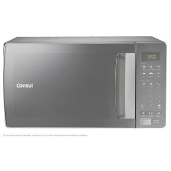 Micro-ondas Consul 32 Litros cor Inox Espelhado com Função Descongelar - Outlet - CMS45AR_OUT - 220V