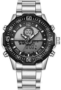 Relógio, Anadigi, Weide, Wh-6105, Masculino, Prata e Preto