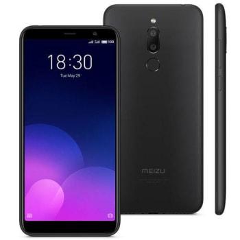 """Smartphone Meizu M6t Preto, Tela 5,7"""", 3gb Ram, 32gb, Câmara 13mp/8mp, Dual Sim"""